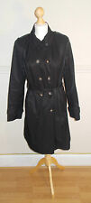 WOMEN/ LADIES / GIRL'S DEBENHAMS THE COLLECTION TRENCH COAT - BLACK (IMMACULATE)