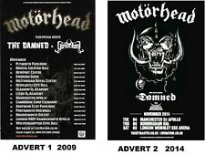 MOTORHEAD THE DAMNED - TOUR 2009 2014 - copy of magazine advert / fridge magnet