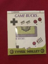 Gameboy Game Bucks Tyvek Wallet NEW MIP