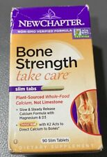 90 SLIM TABLET NEW CHAPTER BONE STRENGTH TAKE CARE WHOLE FOOD CALCIUM Exp 05/20