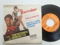 """LAS TENTACIONES DE BENEDETTO OST SPAIN 7"""" VINYL 1973 M & G DE ANGELIS"""