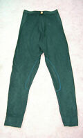 Feux Suede Green Skinny leg Trouser New made 1990's Small see specifics ONE OFF
