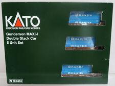 Kato 106-6156 Gunderson MAXI-I Double Stack Car AOK #58153 w/ Hanjin N Scale NOS