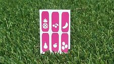 PonchiNail Nail stencil vinyl sticker fruit basket