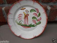 Ancienne assiette faience Est Islettes.Lunéville. Mme Bernard .Antique plate