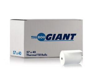 100 Rolls 57x40 Thermal High Quality Credit Card Machine Receipt Paper Till Roll