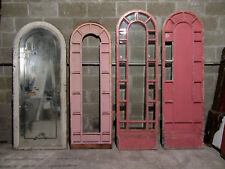 ~ 4 Antique Arch Top Doors Windows Beveled Glass Mirror Storefront ~ Salvage ~