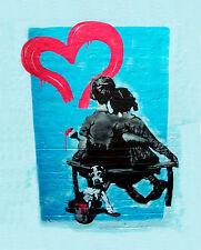 Banksy canvas First Love 8 x 10 Print street art graffiti