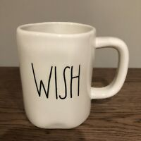 "New! Rae Dunn Magenta ""WISH"" Mug Large Letter LL RARE Coffee Christmas Holiday"