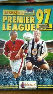 Premier League 97 Sticker Album Manchester United Arsenal Liverpool Soccer...