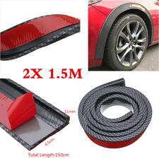 Carbon Fiber Widening Car Fender Flare Wheel Eyebrow Trim Protector Lip 2 X 1.5m