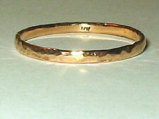 New 1.5 MM Hammered Rose 14K Solid Gold Band Stacking Wedding Ring  Sz 7