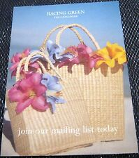 Advertising Retail Racing Green The Catalogue