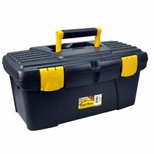 "16""  TOOL BOX WITH HANDLE PLASTIC TOOLBOX TRAY DIY STORAGE ORGANISER CASE"