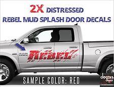 4X Distressed Mud Decal Door Bed Fender Fits Dodge RAM 1500 REBEL 4x4 5.7 Hemi