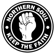 KEEP THE FAITH - NORTHERN SOUL - CAR / WINDOW STICKER + 1 FREE INSIDE WINDOW