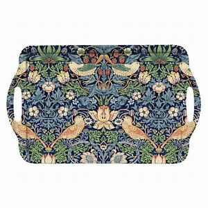 Portmeirion Home & Gifts Pimpernel Strawberry Thief Blue Large Tray, Multi-Co...