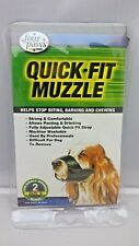 Four Paws Quick Fit DOG MUZZLE Size 2  BLACK Small - Machine Washable - Quality
