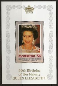 Omnibus - Montserrat - 1986 - Sc 604 - 60Th Birthday of QEII MNH