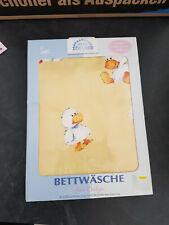 Julius Zöllner Babybettwäsche mit Entenmotiv, neu, 40x60, 100x135cm