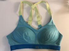 Victoria's Secret VS Sport Mesh Sports Bra Blue Yellow Neon 32B