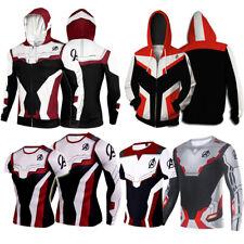 Zip Hoodie Jacket Sweatshirt Hooded Pocket Casual Marvel The Avengers 4 T Shirt