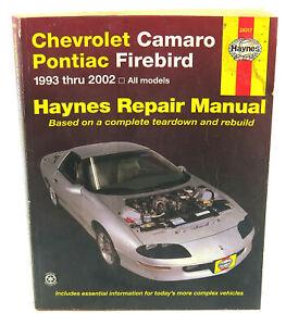 Haynes Repair Manual Chevrolet Camaro Pontiac Firebird 1993-2002 MPN:24017