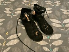 Black Suede Heels Size 5 New Look