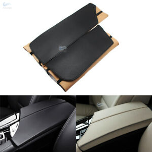 Center Console Lid Armrest Pad Leather Cover for BMW 5 Series F10 Carbon Style
