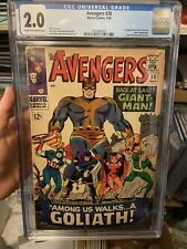 Avengers 28 CGC 2.0 1st Appearance of Collector and Goliath