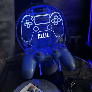 Personalised Playstation PS4 Controller Headset Stand Gaming Station light base