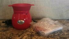 Velata Fondue Warmer Rouge Red 4 Fondue Forks **Never Used** Scentsy No Box