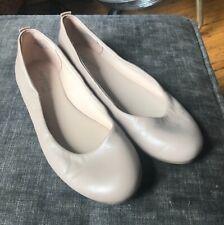 Easy Spirit Women's e360 Beige Nude Leather Round Toe  Ballet Flat  Sz 7