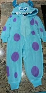 Disney Store SULLY Monster's Inc One Piece Costume Outfit Fleece Sz 2T NWOT