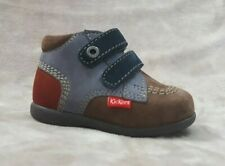 New $80 KICKERS Kids Boys Toddler Shoes Boots LEATHER Size 3 USA/19 EURO/2 UK