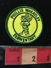 Vtg Miami Florida School Patch PHYLLIS WHEATLEY ELEMENTARY C77K