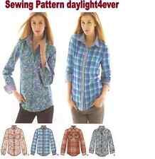 Women Button Down Shirt Top Simplicity Sewing Pattern 1538 New 6-14 #u