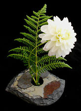 Slate Ikebana flower vase natural stone handcrafted