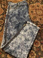 K Jordan Washed Side-Zip Jeans Stonewash 22W Blue
