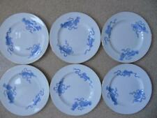 6 x Rare Wedgwood Etruria Chinese Tigers Blue G5087 Dinner Plates 10.5""