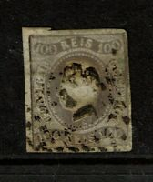 Portugal SC# 23, Used, Hinge Remnant, toned, see notes - S5583