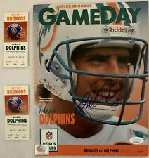 Dan Marino Autographed Game Day Program