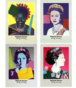 Bundle- 4 Assorted Andy Warhol Famous Queens Posters