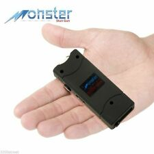 Monster 8 Million Volts Ultra Mini Rechargeable Stun Gun With LED Light Black