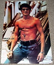 Vintage BRUCE LEE in Sunglasses Poster 1974 OSP Sai M. Chang #4