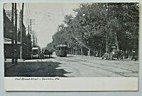 West Broad Street, Hazleton, PA Postcard 1908 Post Horse Buggy 4830