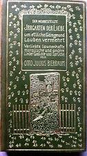 HEINRICH VOGELER - BIERBAUM Irrgarten d Liebe GANZLEDER,EA1906 Dekor, Exlibris