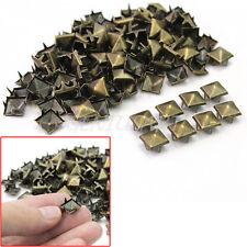100 x Nuevo Tachuelas Remaches 9mm Forma Pirámide Cuadrado Decoración Bolsa
