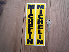 MICHELIN Vertical Style 200mm Fork Slider STICKERS Race Bike Car Racing Classic