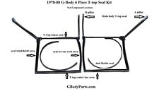1978-87 Buick Regal WE-4 Grand National 6 piece T-top weather strip seal kit